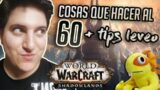COSAS QUE HACER A NIVEL 60 + tips leveo | WoW Shadowlands