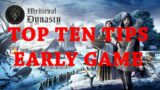 DGA Overviews: Medieval Dynasty – Top Ten Tips for the Early Game