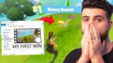 I finally found my FIRST Fortnite win… (3 YEARS LATER!)