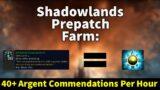INSANE Argent Commendation Farm | Shadowlands Prepatch | Darkened Scourgestone | Gold Guide