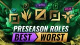 PRESEASON Ranking EVERY ROLE From STRONGEST To WEAKEST – League of Legends
