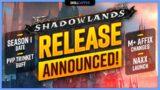 Shadowlands Season 1 Date, PvP Trinket Buff, M+ Affix Changes, Naxx Release Date + MORE!