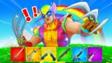 The *RAINBOW* WOLVERINE Challenge in Fortnite!