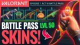 VALORANT   All Act 3 Battle Pass Rewards & New Skins ft. Riot Devs