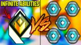 Valorant: 2 Radiant VS 5 Platinum players, but Radiants have INFINITE ABILITIES!