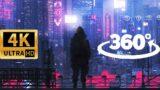 360 VIDEO || Cyberpunk 2077 || Night City in 4K