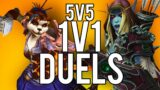 5V5 1V1 DUELS! DUELS IN SHADOWLANDS! – WoW: Shadowlands 9.0 (Livestream)