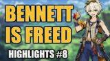 Beating Floor 12 to Free Bennett | Stream Highlights #8 | Genshin Impact Highlights