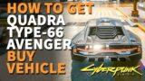 Buy Vehicle Quadra Type-66 Avenger Cyberpunk 2077 Sportscar