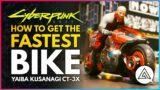CYBERPUNK 2077   How to Get the FASTEST Bike – Yaiba Kusanagi CT-3X 'Akira' Bike