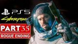 CYBERPUNK 2077 ROGUE ENDING Gameplay Walkthrough Part 35 [PS5 60FPS] – No Commentary