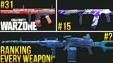 Call Of Duty WARZONE: RANKING EVERY WEAPON In The Game! (All Weapons RANKED)