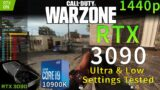 Call of Duty: WARZONE | RTX 3090 | i9 10900K 5.1GHz | Ultra & Low Settings Tested | 1440p