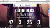Countdown To My Outriders Gameplay Walkthrough Series