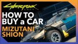 Cyberpunk 2077: HOW TO BUY a CAR. Mizutani Shion Location