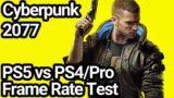 Cyberpunk 2077 PS5 vs PS4/Pro Frame Rate Comparison