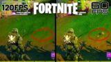 Fortnite 120FPS Gameplay on PS5/Xbox Series X (60fps vs 120fps Graphics Differences)