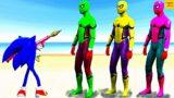 GTA 5 Water Ragdolls SPIDERMAN VS SONIC The Hedgehog (GTA V Euphoria Physics, Ragdolls, Jump/Fails)