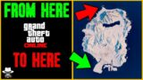 GTA V Online – Walking Across The ENTIRE MAP While it's Snowing (First Person)