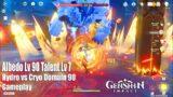 Genshin Impact – Albedo Lv 90 Talents Lv 7 Hydro vs Cryo Domain 90 Gameplay