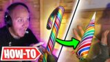 HOW TO BREAK THE CANDY CANE KNIFE IN VALORANT!