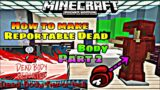 How to make Among Us Reportable Body in Minecraft Part 2