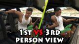 IN CAR – 1st person VS 3rd person (GTA V)
