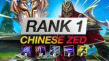 INSANE RANK 1 CHINESE ZED MAIN – League of Legends Montage
