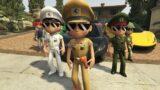 LITTLE SINGHAM VS Army VS Makkhi House And Car | GTA V