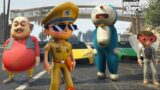 Little Singham Aur Doraemon,Motu And Makkhi Car Race: GTA V