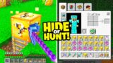 Minecraft Hide Or Hunt, But with LUCKY BLOCKS….