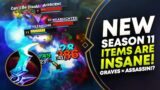 NEW SEASON 11 ITEMS ARE INSANE! GRAVES IS AN ASSASSIN?!! | League of Legends