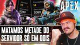 O RANDOM QUITOU E MATAMOS METADE DO SERVER EM DUPLA   APEX LEGENDS