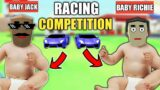 RACING COMPETITION BETWEEN BABY JACK AND BABY RICHIE   SASTI GTA V   DUDE THEFT WARS   GamerzZuana
