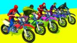 RACING MOTORCYCLE Spiderman With Superheroes Extreme Parkour Challenge – GTA V Mod