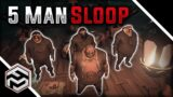 RUNNING A 5 MAN SLOOP IS COMPLETELY BROKEN – Sea of Thieves (Ft. HitboTC)