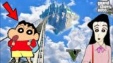 SHINCHAN Found A SECRET STAIRCASE To SPACE IN GTA 5 !! GTA V TECHNO GAMERZ