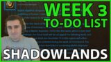 Shadowlands WEEK 3 To-Do List: The Great Vault, Mythic Plus, Raid, and PvP Open!!