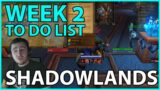 Shadowlands Week 2 To-Do List