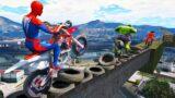 Spiderman Super Motos Stunt Parkour Challenge with Superheroes – GTA V MODS