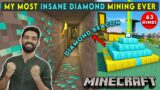 THE MOST INSANE MINING EVER   MINECRAFT SURVIVAL GAMEPLAY IN HINDI #63