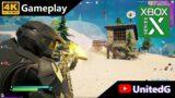 Xbox Series X Fortnite Master Chief Skin Gameplay 4K