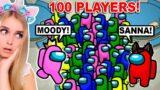100 Player Among Us With Moody!