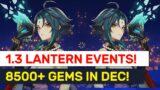 1.3 Xiao Lantern Festival Events! 8595 F2P Primogems In Dec Summary! | Genshin Impact