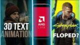 3D Text animation in premiere pro – Cyberpunk 2077 Flops? – Amd link |Tech news | Urdu-Hindi