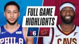 76ERS at CAVALIERS   FULL GAME HIGHLIGHTS   December 27, 2020