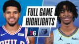 76ERS at GRIZZLIES | FULL GAME HIGHLIGHTS | January 16, 2021