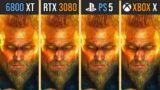 AMD RX 6800 XT vs RTX 3080 vs PS5 vs Xbox Series X   Test in 7 Games