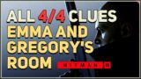 All Clues Emma and Gregory's Room Hitman 3