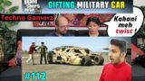 COLONEL GIFTS SECRET MILITARY CAR TO MICHAEL   Pt 2   GTA V GAMEPLAY #112   Techno Gamerz   Reaction